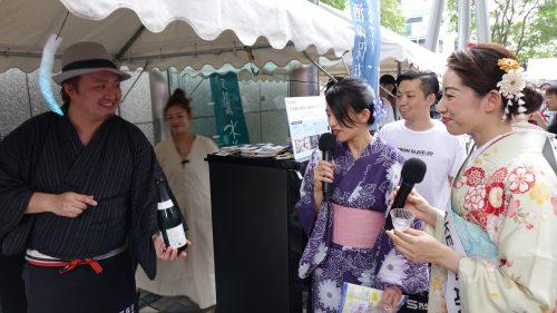和酒フェスで出展した日本酒セラー「sake cabinet」