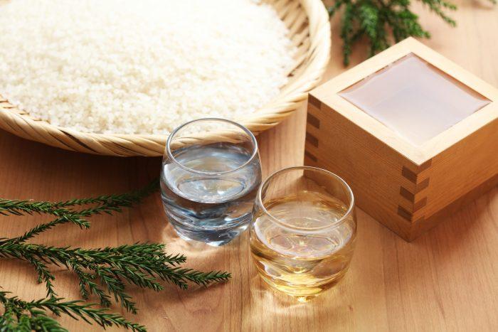 日本酒とお米と升