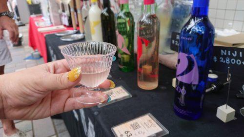 和酒フェスでHINEMOSの利き酒